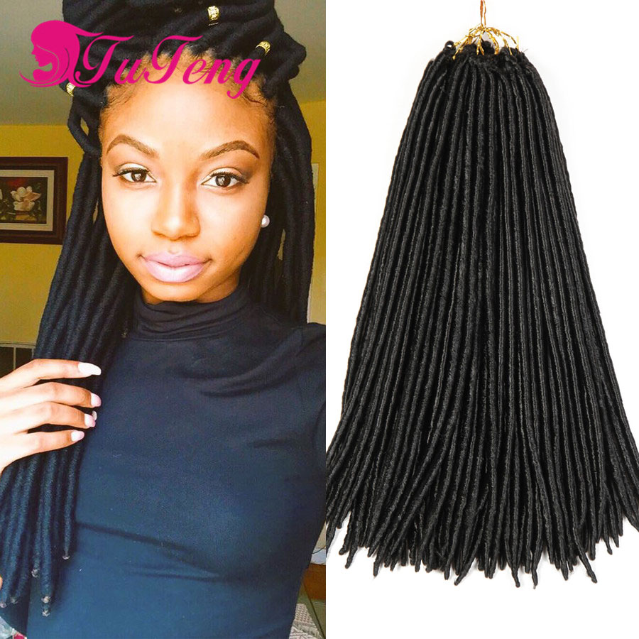 Faux Locs Crochet Hair Dreadlock Extensions 18 Inch Best Quality Twist 24strand Xpression Braiding On Aliexpress Alibaba