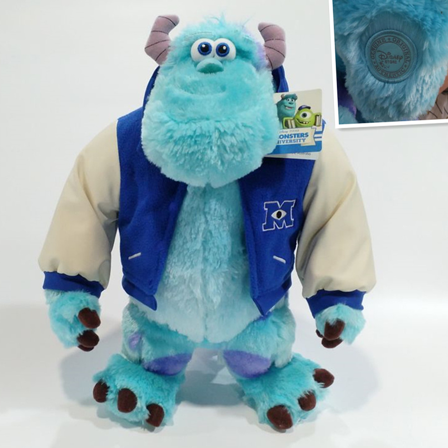1pcs 48cm=18.8inch Monsters University Sulley Sullivan Plush Toy Stuffed Animals Baby Kids soft Toy for Children Christmas Gifts 1pcs ratatouille remy mouse plush toy soft stuffed animals kids toys for children gifts