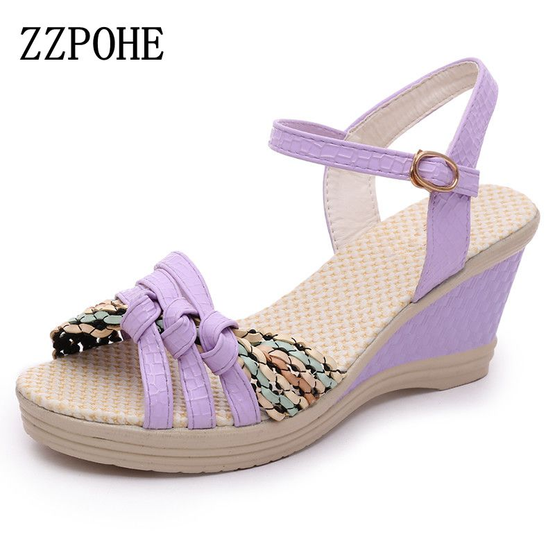 ZZPOHE 2017 Summer new fashion women high-heeled sandals  Fashion casual woman waterproof open-toed sandals Banquet Female shoes  2016 summer new korean high heeled open toed waterproof thick with muffin platform sandals rome female shoes 14cm