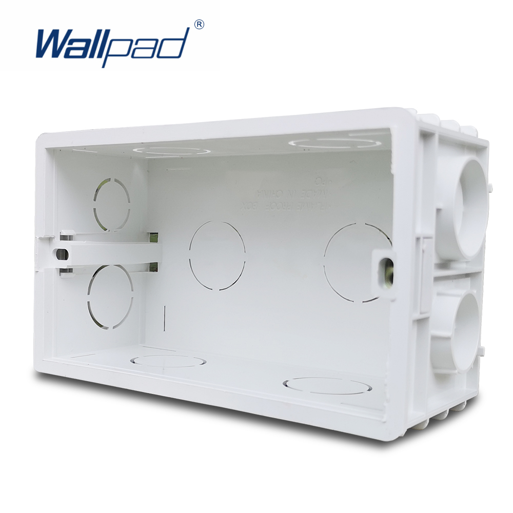 Wallpad 3x6 Double Wall Plate Mounting Box For UK BS Switch Socket 146 X 86 Mm Size Panel