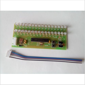 Image 3 - RGB اللون MCU قابل للتعديل عرض نمط LED VU متر مؤشر مستوى 16 LED ثنائي القناة شحن مجاني