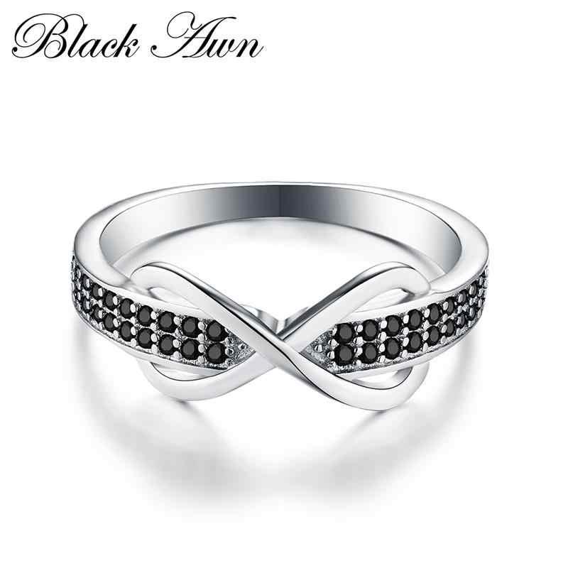 クラシック 2.3 グラム 925 スターリングシルバーファインジュエリートレンディ婚約ファッションバゲファム女性の高級結婚指輪ビジュー C090