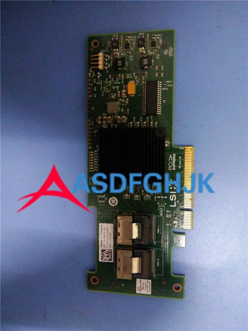 D'origine POUR Dell LSI SAS 9210-8I 6gbps Double Port Adaptateur de Bus Hôte w/Profil Bas 0W8J8X W8J8X CN-0W8J8X entièrement testé