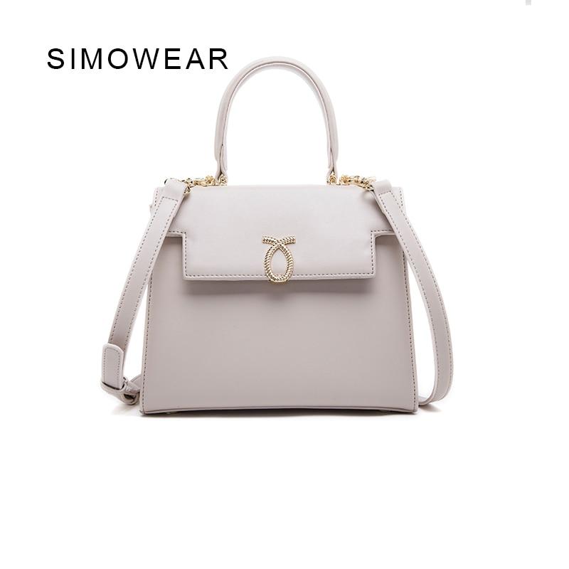 ФОТО SIMOWEAR Designer Handbags High Quality Bag Genuine Leather Monedero Mujer Socialite Totes Woman Handbags Shoulder Purse