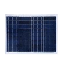 3 pcs /lot solar energy panel 50w 12v kit panneau solaire 150w 18v polycrystalline silicon solar cell solar module photovoltaic