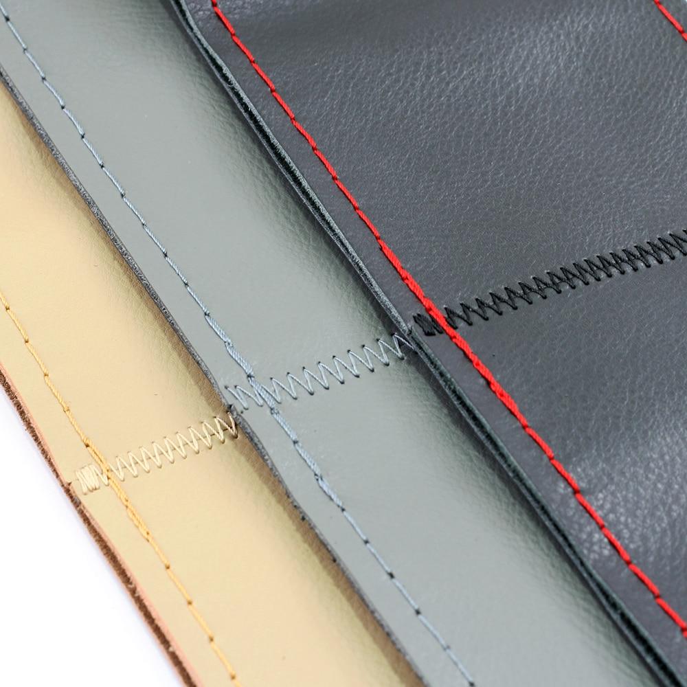 VENSECO 38 cm cuero genuino cubierta del volante capa superior de - Accesorios de interior de coche - foto 4