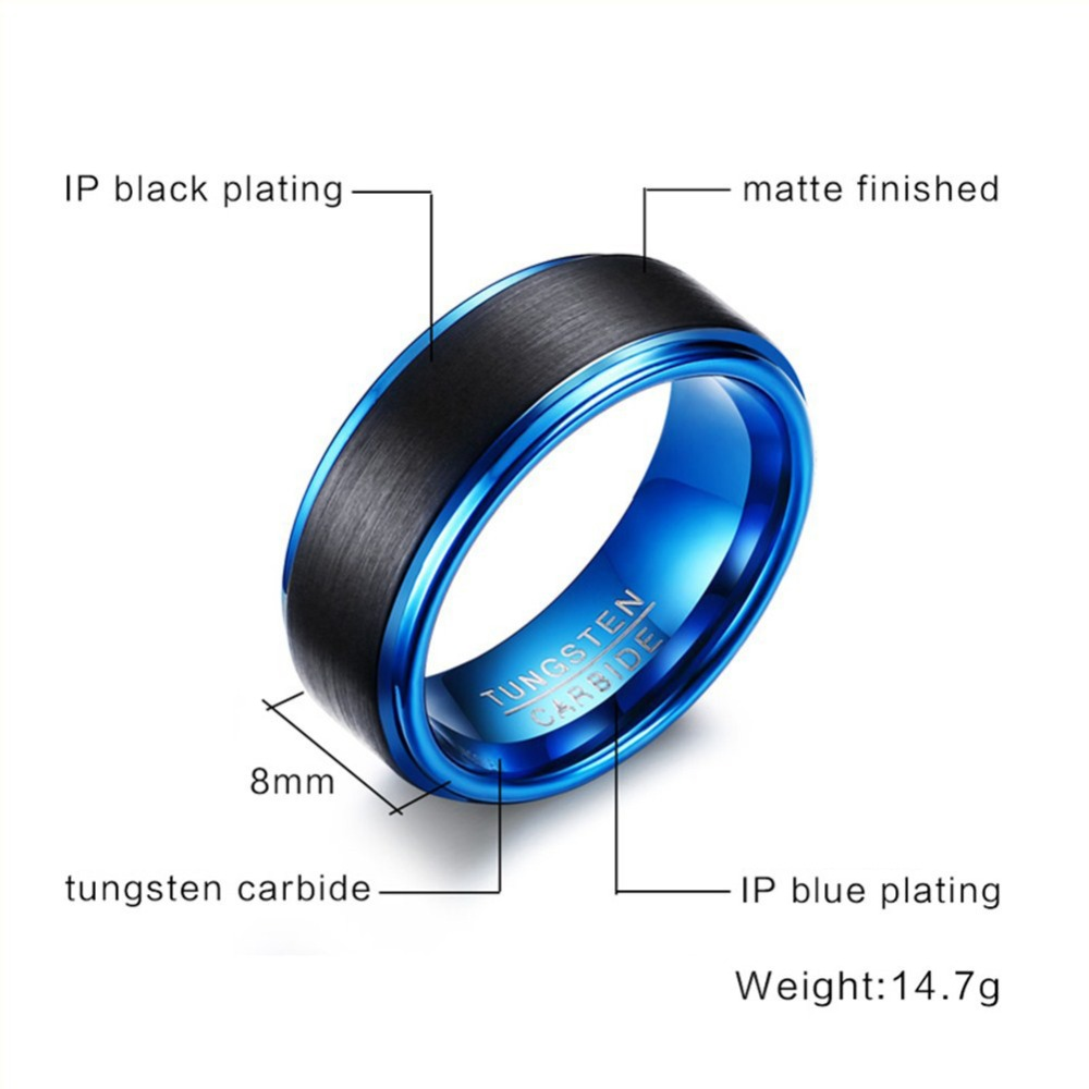best on wedding jewelry genuine engagement men classic j mens black accessories band high tcr polish cool blue ring from seller in item carbide rings fashion tungsten