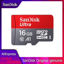 SanDisk 100MB/S Micro SD Card 400GB 256GB 128GB 64GB 32GB 16GB 8GB U1 A1 Class 10 Memory Card SDXC SDHC microsd Flash TF Card