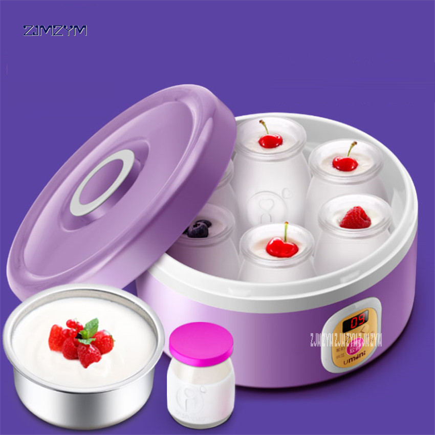 Purple Yogurt Makers Rice Wine Natto Machine Household Fully Automatic Yogurt Glass Sub-cup Liner Multifunctional SNJ-M10 purple yogurt makers rice wine natto machine household fully automatic yogurt glass sub cup liner multifunctional kitchen helper