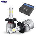 H4 9003 HB2 H7 H11 H9 H8 9005 HB3 9006 HB4 H13 Car LED Headlight Bulbs COB 72W 8000lm 6500K All in one Fog Light 12V 24V