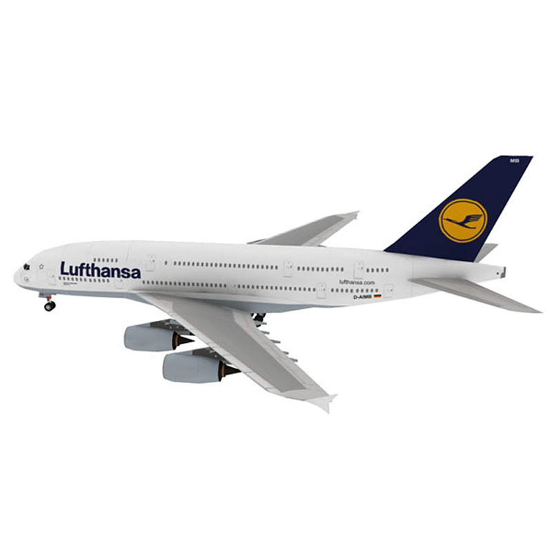 German Lufthansa South Korea Airbus A380 Passenger Aircraft Paper Model Airbus A380 Civil Aviation Passengers Airbus Collection