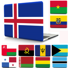 National Flag Pattern Laptop Cover Case For Apple Macbook Air Pro Retina 11 12 13 15 Protective Shell for Mac 11.6 13.3 15.4