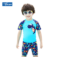 NuLL Summer Outdoor Two-pieces Swimsuit For Boys WaterProof UV Swimwear Kids   Swim   Suits With T-Shirts and Shorts Beachwear MD023