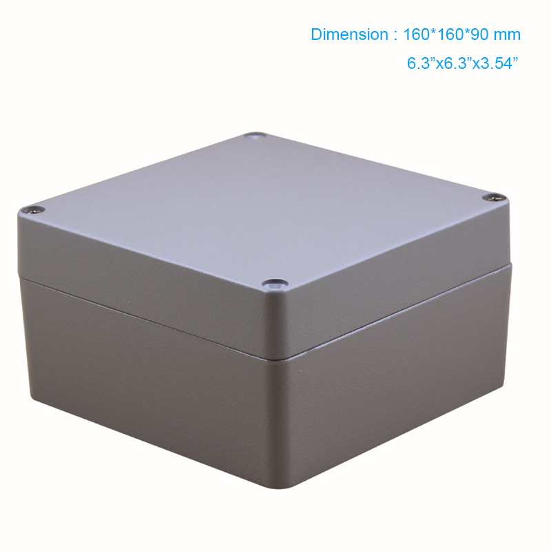 Hot Sale IP67 Square Metal Junction Box Waterproof aluminium box use for connection enclosure 160*160*90mm FA62 free shipping terminal box industrial plastic waterproof box electrical junction box 160 160 90mm