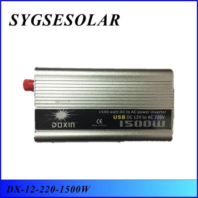 Melhor Qualidade 1500 W Carregador Regulador de Tensão para Uso Doméstico de Potência Do Inversor 1500 W Doxin DC 12 V para AC 220 V 1500 Watt Conversor