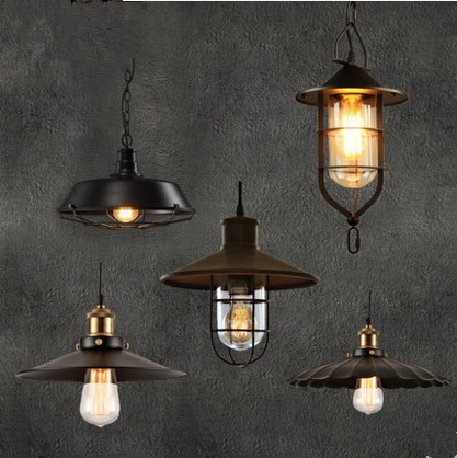 Edison Style Loft Industrial Lighting Vintage Pendant Lamp Fixtures For Dinning Room Hanging Lights Lampen Lamparas Colgantes retro loft style iron glass edison pendant light for dining room hanging lamp vintage industrial lighting lamparas colgantes