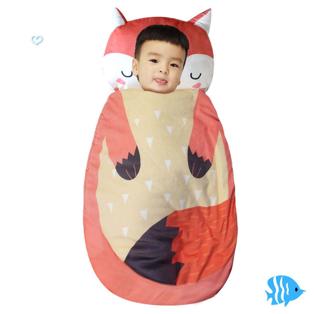 5337582b312767 Animal Fox Cartoon Baby Sleeping Bag Cotton Infant Sleeping Sack Baby  Winter Sleeping Bags Cocoon Kids Newborn Sleep Sack 105cm