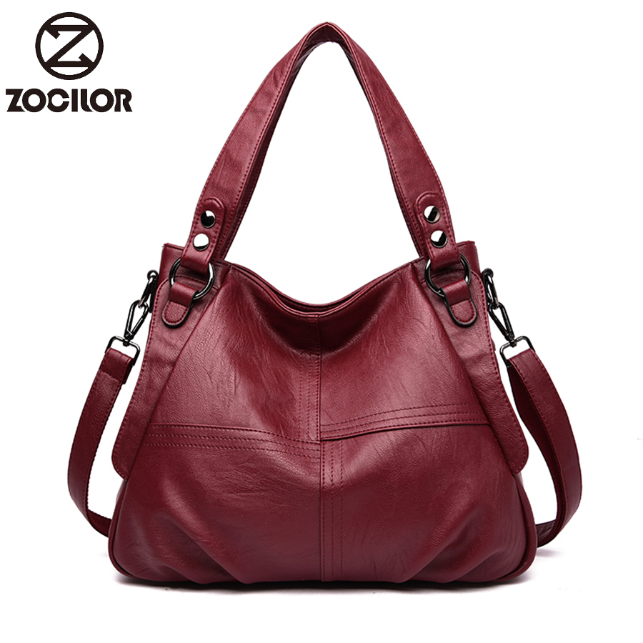 Fashion  Women Bag Soft Leather Handbags Hot Ladies Shoulder Bag High Capacity  Crossbody Bags For Women  Messenger Bags Sac