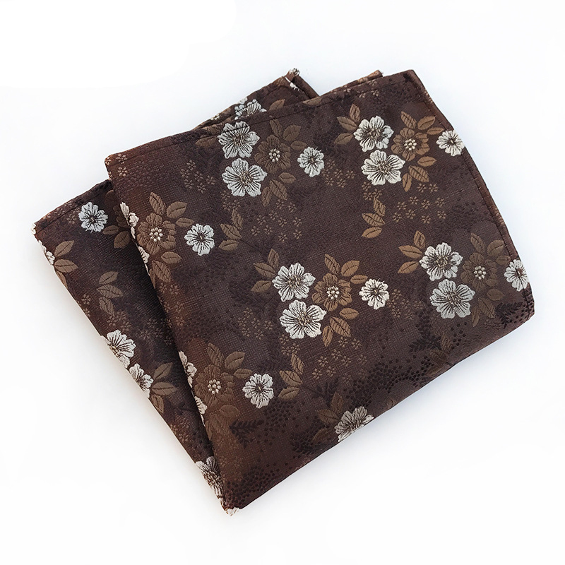 Vintage Pocket Square Floral Printed Handkerchief For Mens Suit Wedding Party Hankies For Men Brand Small Pocket