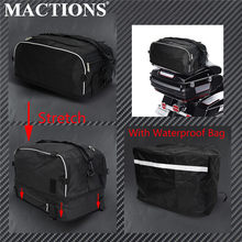MACTIONS Collapsible Luggage Rack Bag Tour Bag W/ Waterproof Bag For Harley Touring Street Road Electra Glide Road King 94-2019(China)