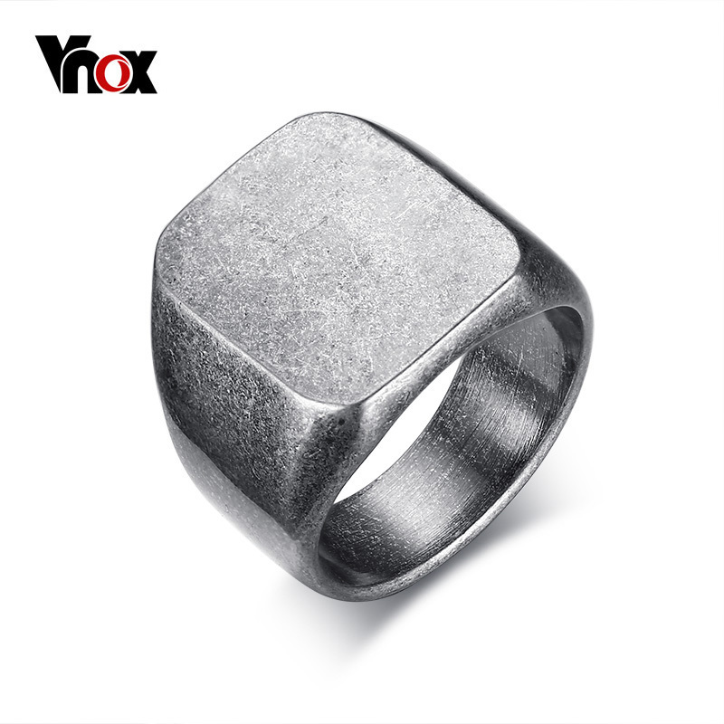 Vnox 18mm Men's Retro Rock Punk Rings Vintage Individuality Ring for Men Male Party Jewelry US size 8 to 12 Cocktail Ring vnox rock punk men s cocktail ring vintage silver tone rings for men anel masculino turkish male jewelry