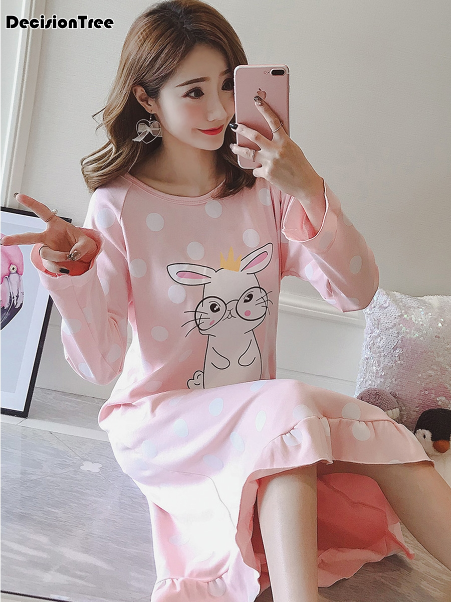 2019 summer night dress gecelik sleepwear nightgown nightwear sleepshirts nightgowns pyjamas women pijama mujer