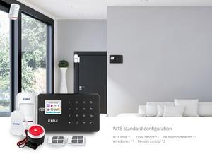 Image 4 - KERUI W18 أسود اللون العقلية التحكم عن بعد لاسلكية Wifi GSM إنذار المنزل APP LCD GSM SMS جهاز إنذار ضد السرقة نظام
