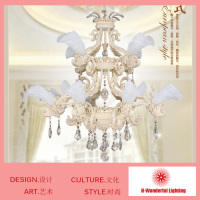 12Heads Elegant Beautiful Unique Styleer Modern Chandelier K9 Crystal Resin Art Iron Lamp For Living Drawing
