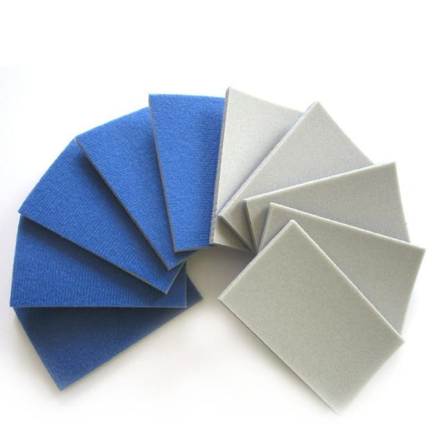 10PCS เปียกแห้ง Flocking ฟองน้ำขัด Self adhesive แผ่นกระดาษทรายรูปสี่เหลี่ยมผืนผ้า 58*100 มม.300 3000 กรวดขัดขัดเครื่องมือ