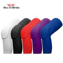 Lohnende 1 PC Basketball Knie Pads Waben Elastische Kneepad Compression Sleeve Schaum Klammer Patella Schutz Volleyball Unterstützung(China)