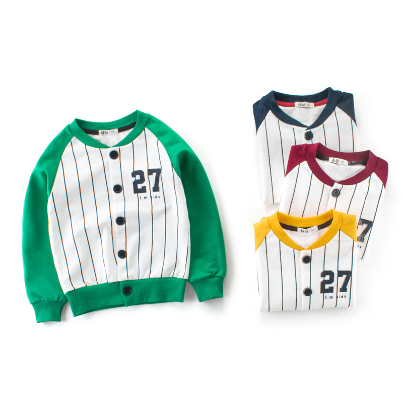 Baby Jungen Kleidung Jungen Jacke Streifen Jungen Outwear Kinder Marke Kinder Mäntel Jungen Baseball Kinder Mäntel Jacken Spezieller Sommer Sale