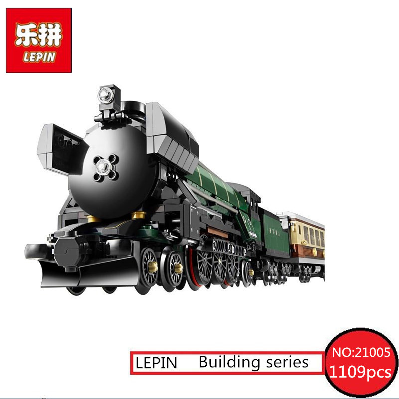 LEPIN 21005 series the Emerald Night model building blocks set Classic Educational Toys compatible Steam trains Boy Gift 10194 2016 new lepin 21005 creator series the emerald night model building blocks set classic compatible legoed steam trains toys