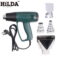 HILDA 2000W 220V EU Plug Industrial Electric Hot Air Gun Thermoregulator Heat Guns Shrink Wrapping Thermal