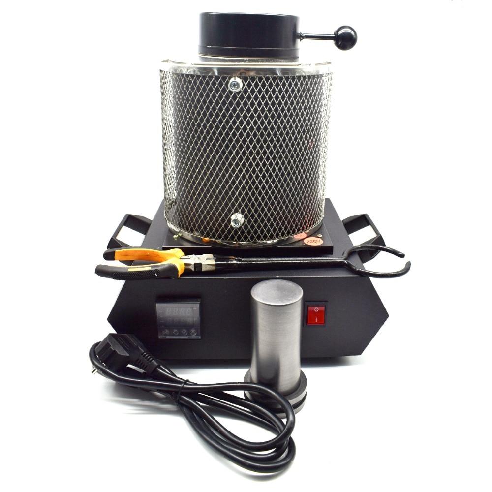 Automatic Melting Furnace Melt 2kg Silver /& Gold Pour Bar Digital Controller