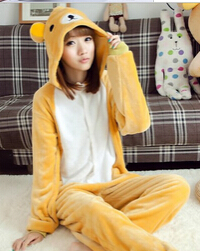 Каваи аниме взрослый Рождество Хэллоуин животное панда Rilakkuma костюм Rilakkuma кигуруми Onesie пижамы - Цвет: Style 2