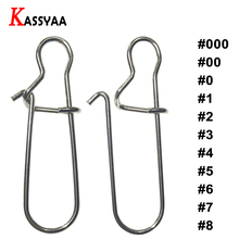 KASSYAA 30-50pcs Fishing Connector Barrel Swivels Rolling Safety Snap Solid Rings #000 #00 #0 #1 #2 # #4 #5#6#7#8 KXY056