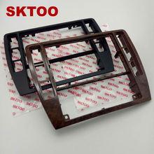 SKTOOFor VW PassatB5 Middle Escutcheon Center Decorative Box Dashboard Console Panel CD Recorder Frame Radio Face Trim 3B0858069