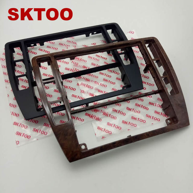 SKTOOFor VW PassatB5 Middle Escutcheon Center Decorative Box Dashboard Console Panel CD Recorder Frame Radio Face Trim 3B0858069