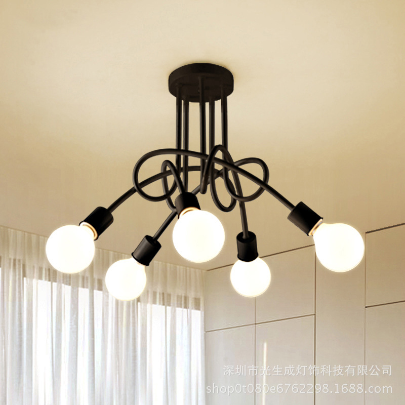 cheapest LED Postmodern Iron Glass Bubbles Chandelier Lighting Lamparas De Techo Suspension Luminaire Lampen For Dinning Room