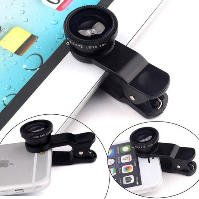 Peaktop  Fish Eyes Lens Universal Mobile Phone Lenses Wide Angle Macro  for IPhone 6 7 6S SE 5 for Samsung Smartphone Lentes