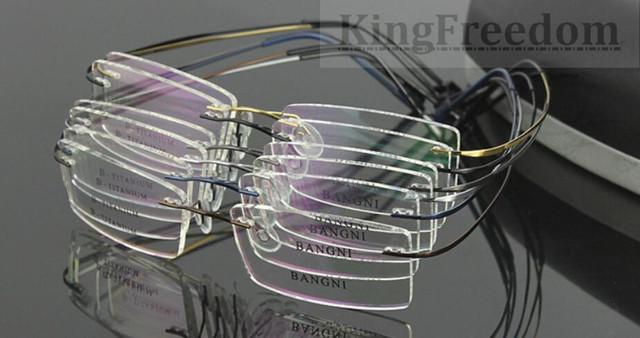 Pure Beta Titanium Hingeless aro flexível óculos de armação Rx óculos óculos