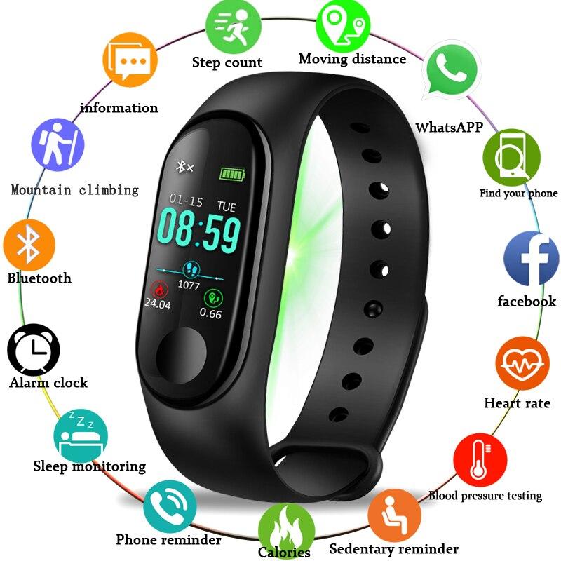 BANGWEI New Smart Watch Heart Rate Blood Pressure Monitor Men Women Fitness Tracker Pedometer Bluetooth Waterproof Sports Watch