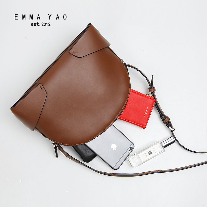 EMMA YAO women  leather  bag designer women messenger bags famous brand crossbody bag emma yao leather women bag fashion korean tote bag new designer women messenger bags
