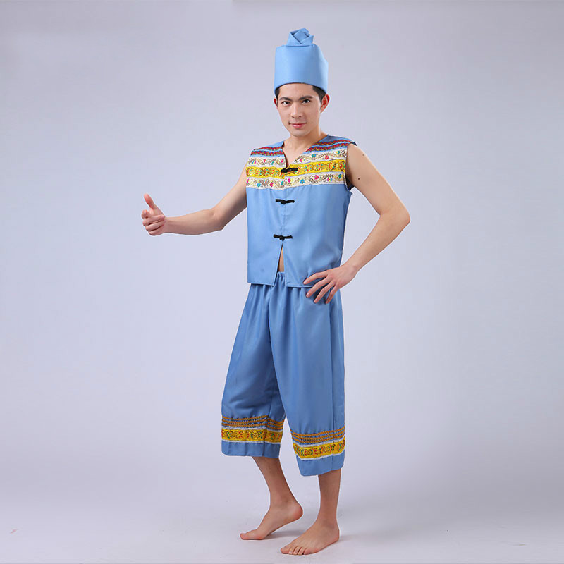 Miao Clothing for Men Miao Hmong Clothes Chinese Folk Dance Costume Hmong Chinese Traditional Dance Costume