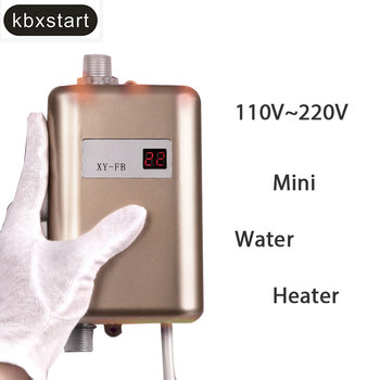 Kbxstart 3000W Electric Water Heater Instant Tankless Water Heater 110V/220V Temperature Display Heating Shower For Kitchen Bath цена 2017