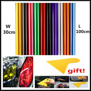 30x100cm Car HeadLight lamp Light Vinyl Film Sticker Decal for BMW E34 F10 F20 E92 E38 E91 E53 E70 X5 M M3 E46 E39 E38 E90 image
