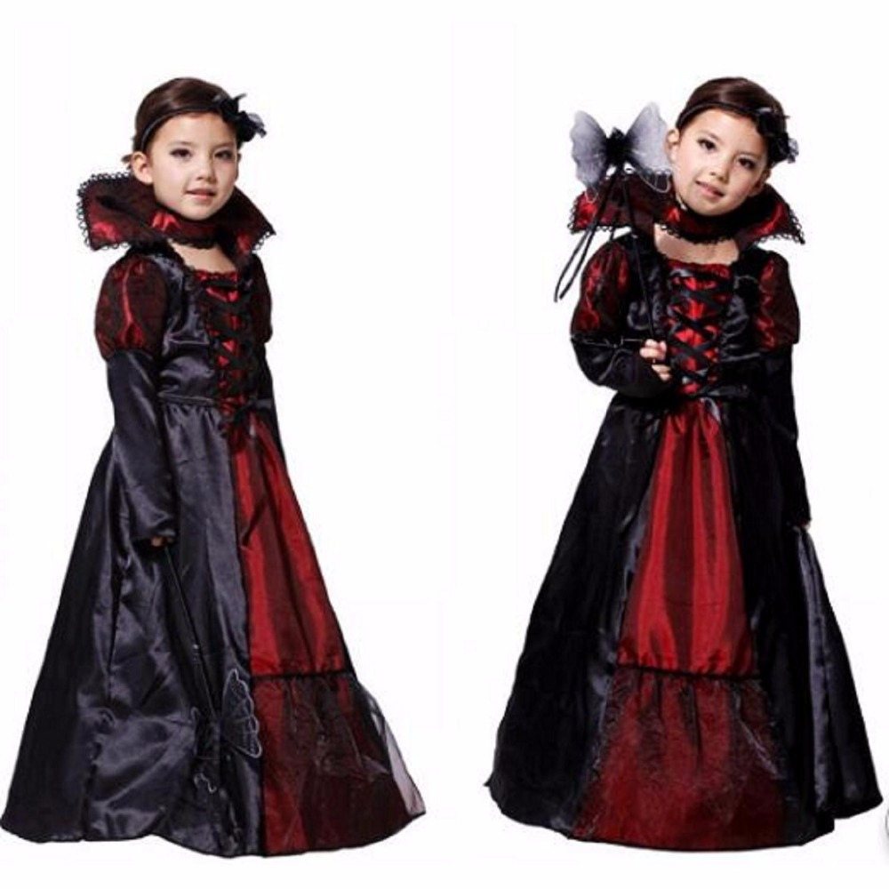 2016 New Snow White Cosplay Schneewittchen Kids Empress Dresses and Cloak Costumes Clothes For Party Vestidos Girl Queen Costume