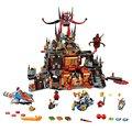 Nexo caballeros jestros volcán lair kits de juguetes de bloques de construcción de combinación de marvel compatible legoe nexus