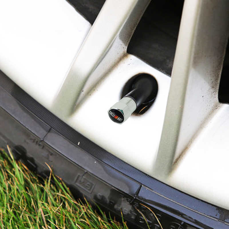 عدد 4 قطعة/المجموعة/مجموعة من قبعات صمام إطارات السيارات الجديدة مناسبة لسيارات Mitsubishi Lancer 10 RalliArt l200 Galant Ralli Art اكسسوارات السيارات تصفيف السيارة