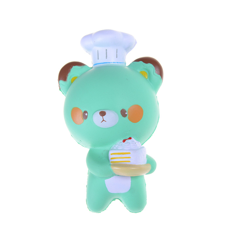 Motivated Wholesales Jumbo Panda Cell Phone Strap Chef Pastry Bear Squishy Bread Slow Rising Toy Cartoon Cake Bun With Fragrant 14cm Famous For High Quality Raw Materials Full Range Of Specifications And Sizes And Great Variety Of Designs And Colors